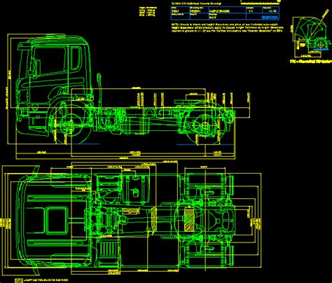 Scania Truck Tractor 2D DWG Block for AutoCAD – Designs CAD