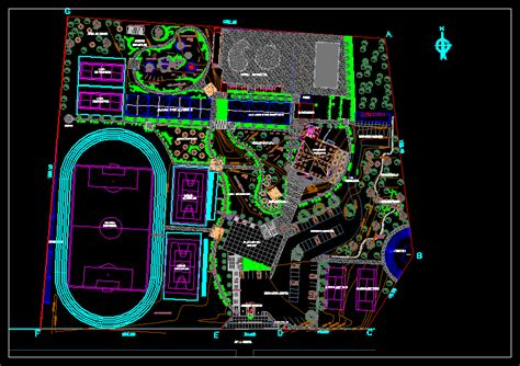 Recreational Sports Complex DWG Full Project for AutoCAD