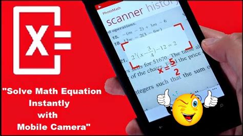 How To Solves Math Problems Instantly Using Your Phone's
