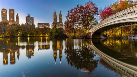Bow Bridge Crossing Over The Lake Central Park New York